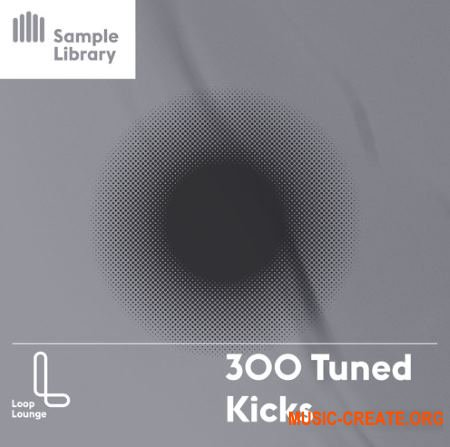 Loop Lounge 300 Tuned Kicks (WAV) - сэмплы бас-барабанов