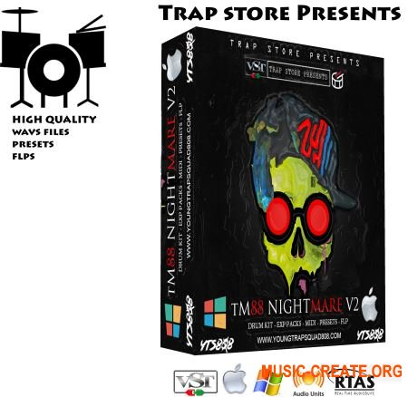 TM88 Nightmare Drum Kit V2 (WAV VST PRESETS FLP) - сэмплы ударных