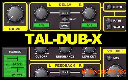 Togu Audio Line TAL-Dub-X v1.0.2 WiN OSX (Team R2R) - плагин дэлей