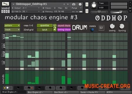 Sound Dust OddHop Modular Chaos Engine #3 (KONTAKT) - акустические, электронные звуки