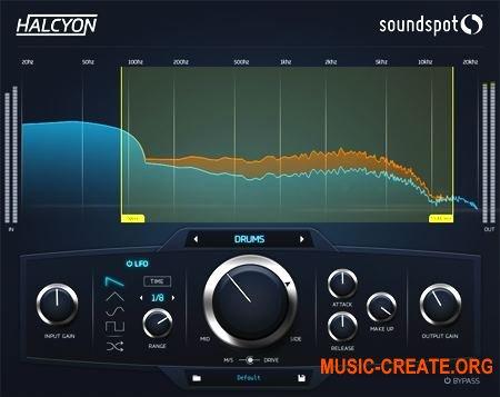 SoundSpot Halcyon VST VST3 AU AASX v1.0 x86/x64 WIN/MAC - виртуальный сатуратор