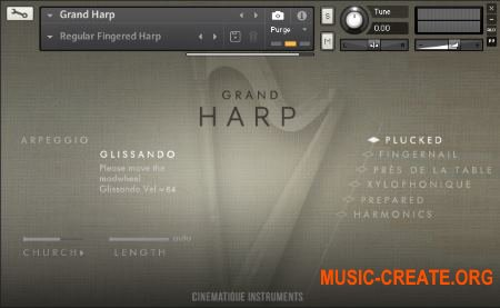 Cinematique-Instruments - Grand Harp (KONTAKT) - библиотека арфы