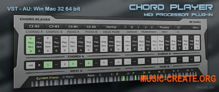 RF Music Chord Player v1.0.0.1 WiN / OSX (Team R2R) - плагин MIDI-процессор