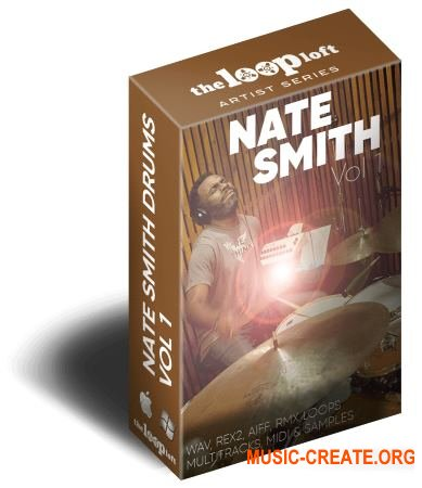 The Loop Loft Nate Smith Drum Loops Vol 1 (WAV MiDi) - сэмплы ударных