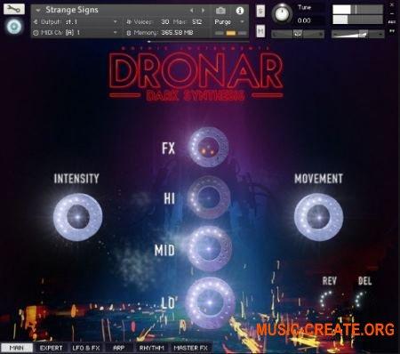 Gothic Instruments DRONAR Dark Synthesis (KONTAKT) - библиотека звуков атмосфер, эффектов