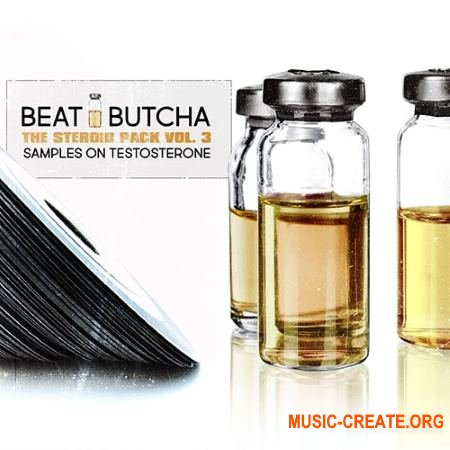 Beat Butcha The Steroid Pack Vol 3 (WAV ABLETON LiVE RACK) - сэмплы ударных