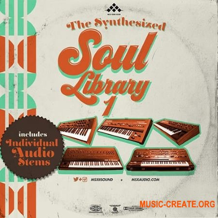MSXII Sound Design The Synthesized Soul Library 1 (WAV) - сэмплы синтезаторов