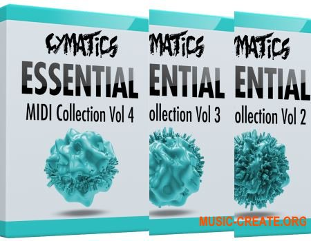Cymatics Essential MIDI Collection Vol.2, 3, 4 (MIDI)