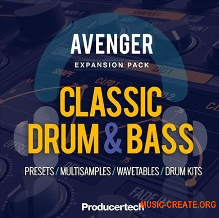 Producertech Avenger Classic Drum and Bass Expansion Presets (Avenger Presets)