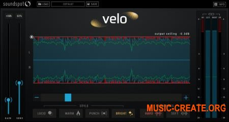 SoundSpot Velo Limiter VST VST3 AU AAX v1.0.1 MAC/WiN - плагин лимитер