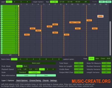 AudioVitamins Stochas v1.1.2 CE (Team V.R) - шаговый секвенсор