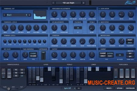 GG Audio Blue3 v1.3.0 WiN / OSX (Team R2R) - VST винтажный орган