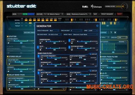 iZotope Stutter Edit v1.05a Ked MAC (Kleen) - плагин звуковых эффектов