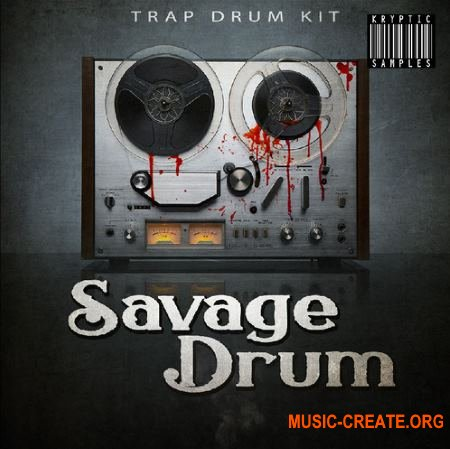 Kryptic Samples Savage Drum (WAV) - сэмплы ударных