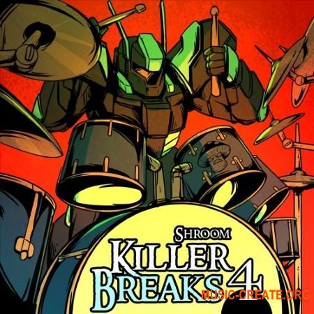 Shroom Killer Breaks Vol. 4 (WAV) - сэмплы ударных