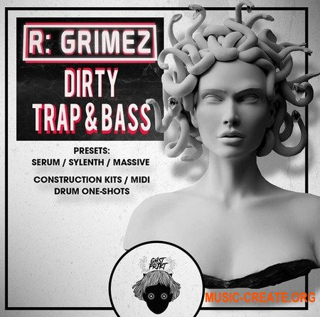 GHST PRJKT R-GRIMEZ Dirty Trap And Bass (WAV MiDi SERUM MASSiVE SYLENTH1) - сэмплы, пресеты Trap, Hybryd Trap