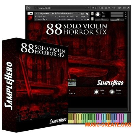 SampleHero 88 Solo Violin Horror SFX