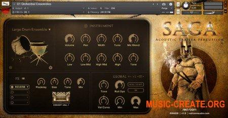 Red Room Audio Saga Acoustic Trailer Percussion (KONTAKT) - кинематографическая библиотека