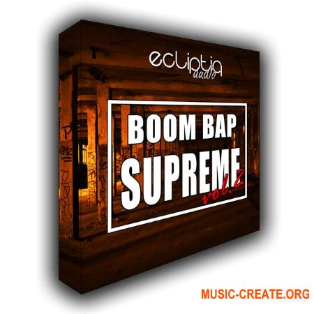 Ecliptiq Audio Boom Bap Supreme Vol 2 (WAV) - сэмплы ударных, Hip Hop