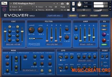 Pink Noise Evolver 2 (KONTAKT) - библиотека синтезатора DSI Evolver