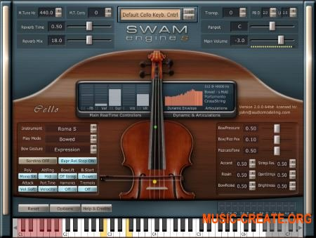 Audio Modelling SWAM engine SWAM Cello v2.0.1 CE (Team V.R) - виртуальная виолончель