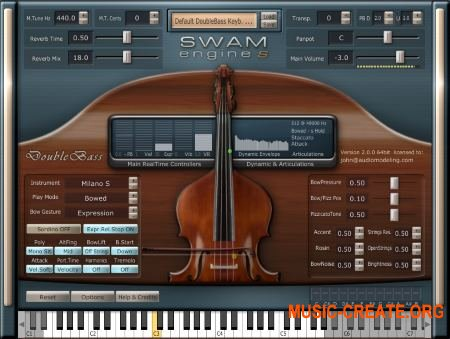 Audio Modelling SWAM Engine SWAM Double Bass v2.0.1 CE (Team V.R) - виртуальный контрабас