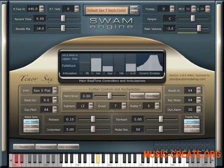 Audio Modelling SWAM Engine SWAM Soprano Sax v2.7.0 CE (Team V.R) - виртуальный саксофон