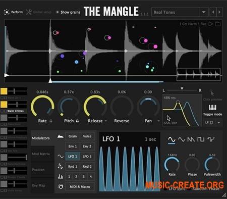Sound Guru The Mangle v1.1.1 x86 x64 VST AU WIN MAC - гранулярный синтезатор / сэмплер