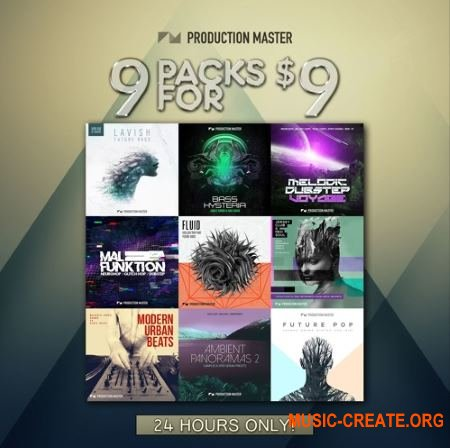 Production Master 909 Bundle (WAV MIDI FXP) - сэмплы Future Bass, Dubstep, Hip Hop, Trap, Chillout, Glitch Hop