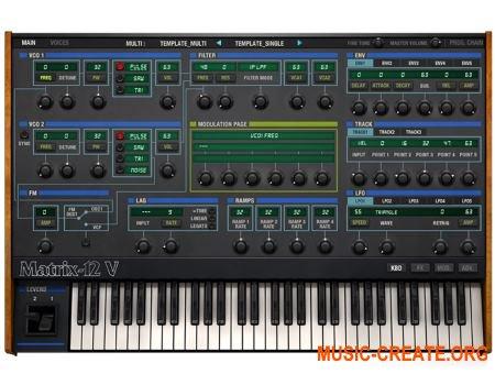 Arturia Matrix-12 V2 v2.3.1.1784 CSE (Team V.R) - аналоговый синтезатор