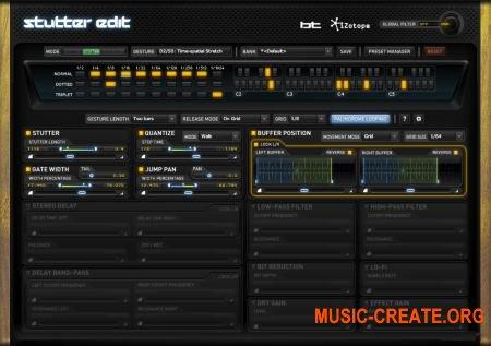 iZotope Stutter Edit 1.05c Win/Mac (TEAM R2R/HEXWARS) - плагин звуковых эффектов