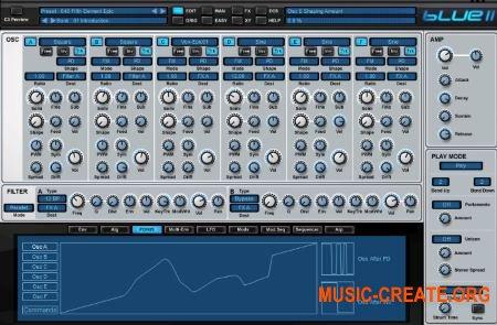 Rob Papen Blue II v1.0.3b CE rev.2 (TEAM V.R) - гибридный синтезатор
