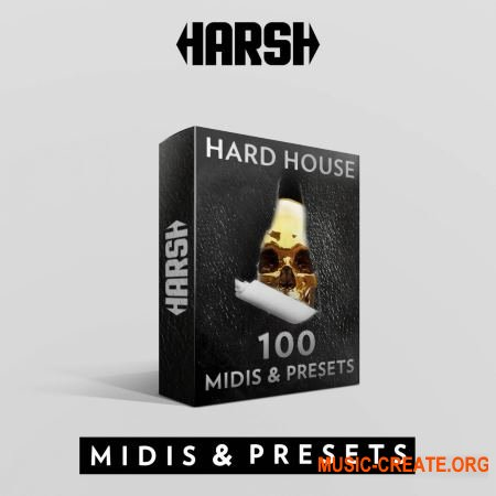 HARSH Hard House 100 Sylenth 1 Presets & Midis (WAV MiDi Sylenth) - сэмплы Hard House