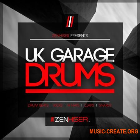 Zenhiser UK Garage Drums (WAV) - сэмплы ударных