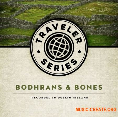 Red Room Audio Traveler Series Bodhrans And Bones (KONTAKT) - библиотека ирландского каркасного барабана
