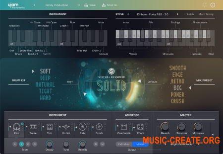 uJAM Virtual Drummer SOLID v2.0.0.2504 CE (Team V.R) - виртуальный инструмент ударных