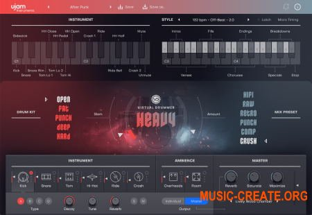 uJAM Virtual Drummer HEAVY v2.0.0.192 CE (Team V.R) - виртуальный инструмент ударных