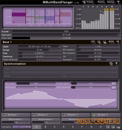 MMultiBandFlanger от MeldaProduction - флэнжер