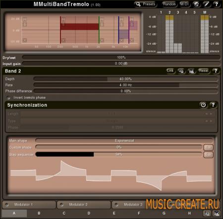 MMultiBandTremolo 2.01 от MeldaProduction - тремоло
