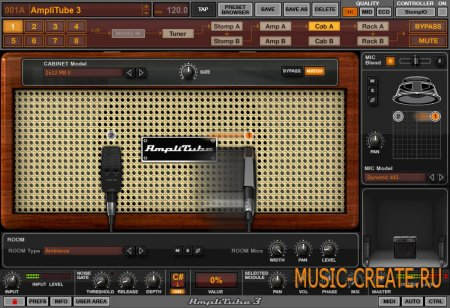 AmpliTube 3 от IK Multimedia - Искажение / Overdrive / Усилитель