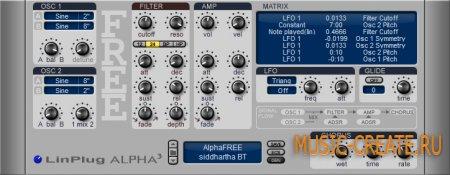 Alpha 3.0 Free от LinPlug - синтезатор