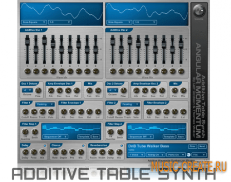 Additive WaveTable Synth от Angular Momentum VST - синтезатор
