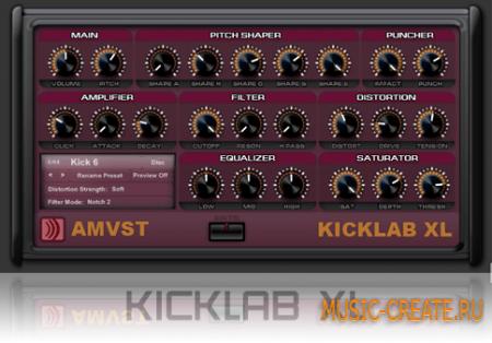 AM KickLab XL от Angular Momentum VST - Kickdrum лаборатория VSTi