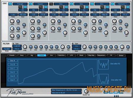 Rob Papen - Blue II v1.0.2a (TEAM R2R) - гибридный синтезатор