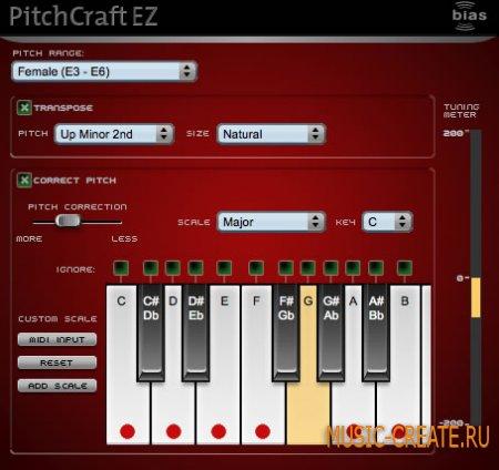 PitchCraft EZ от BIAS - корректор тональности