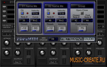 Piezo Drum Pad Pack от FrettedSynth - контроллер