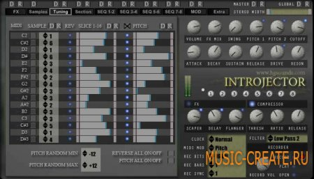 Introjector - Loop Re-Sequencer VSTi от Homegrown Sounds - секвенсор