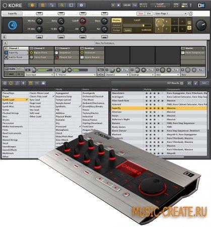 KORE 2.1.2 от Native Instruments (NI) - универсальная звуковая платформа