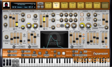 Amber (DCAM: Synth Squad) 1.0.3.11 от FXpansion - субстрактивный синтезатор